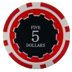 bundle of 25 red eclipse poker chips