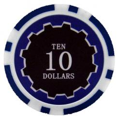 bundle of 25 blue eclipse poker chips