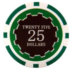 bundle of 25 green eclipse poker chips