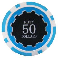 bundle of 25 light blue eclipse poker chips