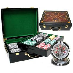 500 high roller chip set in a humidor style chip case