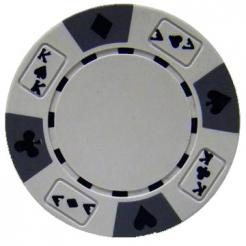bundle of 25 white ace king suited poker chips