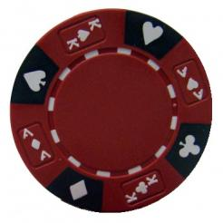 bundle of 25 red ace king suited poker chips