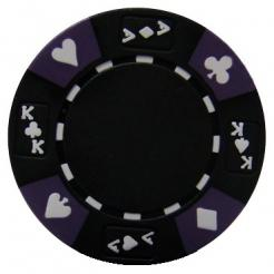 bundle of 25 black ace king suited poker chips