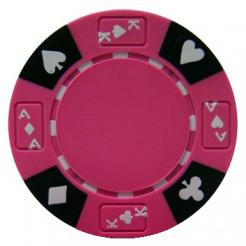 bundle of 25 pink ace king suited poker chips