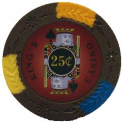bundle of 25 brown kings casino 25 cent poker chips