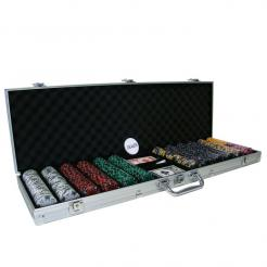 600 ace king poker chip set in an aluminum case