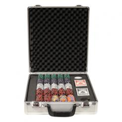 500 poker chip set in a claysmith aluminum case that includes 5 chip trays