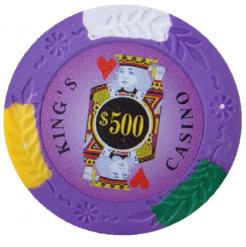 bundle of 25 purple kings casino poker chips