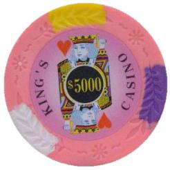 bundle of 25 pink kings casino poker chips