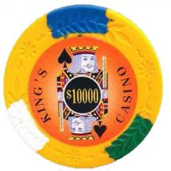 bundle of 25 orange kings casino poker chips