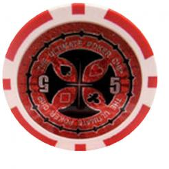 Bundle of 25 red ultimate poker chips