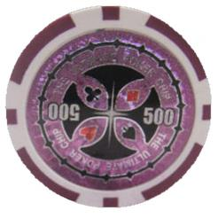 Bundle of 25 purple ultimate poker chips
