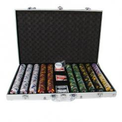 1000 kings casino poker chip set in an aluminum case