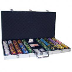 750 kings casino poker chip set in an aluminum case