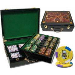 500 kings casino poker chip set in a humidor style case