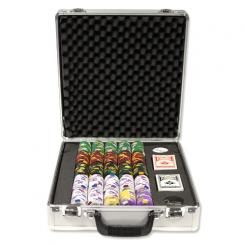 500 Kings Casino Poker Chip Set in Claysmith Aluminum Case with 5 chip trays
