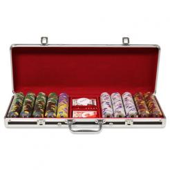 500 Kings Casino Poker Chip Set in Black Aluminum Case