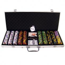 500 Kings Casino Poker Chip Set in an Aluminum Case