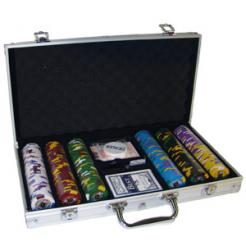 300 kings casino poker chip set in an aluminum case