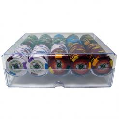 200 Kings Casino Poker Chip Set in an Acrylic Tray with Lid
