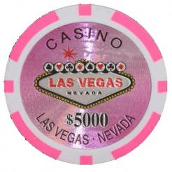 Bundle of 25 pink Las Vegas Casino poker chips