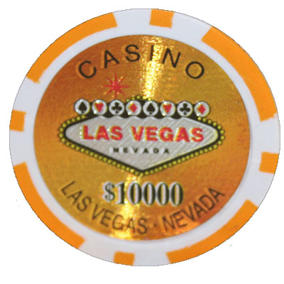 25 Orange Las Vegas Casino Poker Chips 10 000 Chip