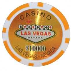 Bundle of 25 orange Las Vegas Casino poker chips