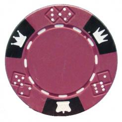 bundle of 25 purple triple crown poker chips