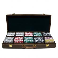 500 ultimate poker chip set in a walnut case