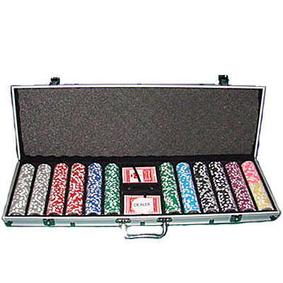 royal flush poker chip set