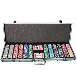 600 royal flush poker chip set in an aluminum case