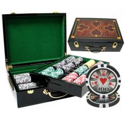 500 royal flush poker chip set in a humidor case