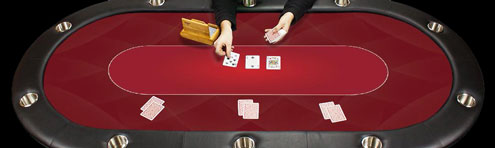 The casino poker table felt will give your table the look of a real casino table