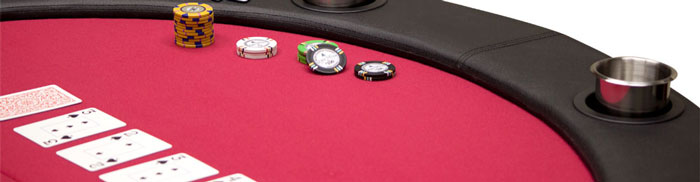 Choose from several styles of poker tables